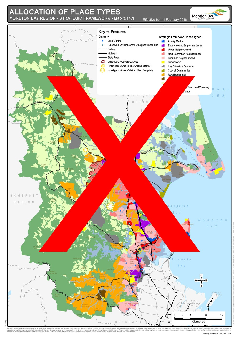 Moreton bay regional council mbrc planning scheme version 4 map 3141 allocation of place types sciox Gallery